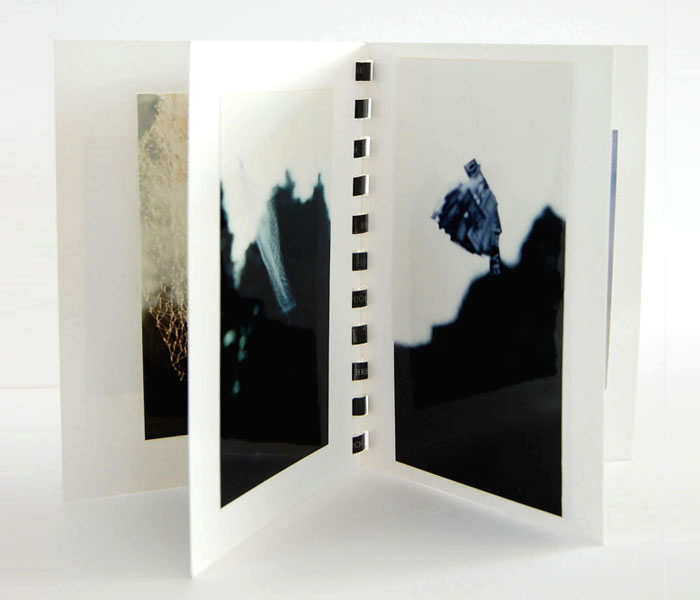 Artist's Book from 'Words' Series, photography, text on acetate binding..